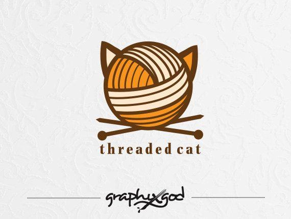 Knitting Logo Design  Exclusive Knitting Logo by graphixgod, $199.00