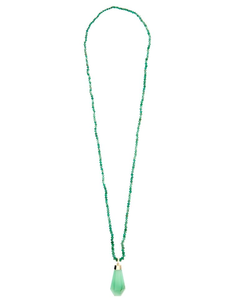 Chrysoprase & yellow-gold Never Ending necklace by Jade Jagger | Shop now at #MATCHESFASHION.COM