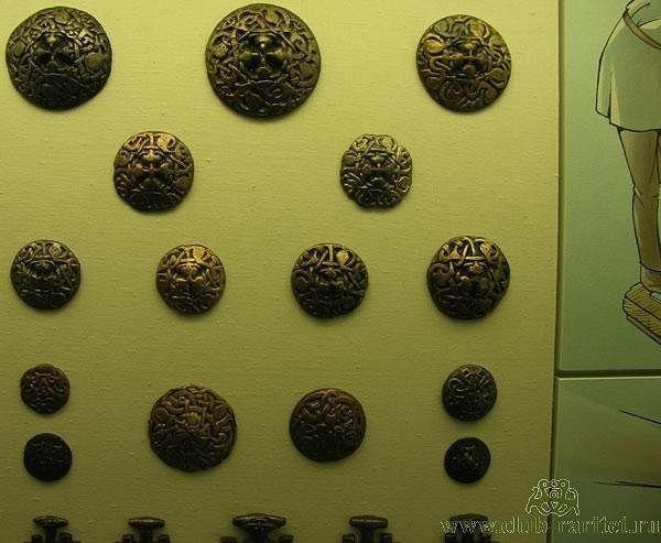 disk brooches. Wikinger Museum Haithabu