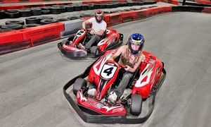Groupon - Junior or Adult Go-Kart Races, VIP Track Pass with Race Discounts, or Birthday Party Package at MB2 Raceway (Up to 50% Off)  in Des Moines. Groupon deal price: $13