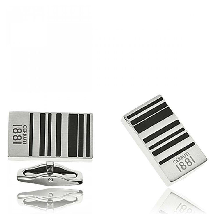 Men stainless steel Classic cufflinks - Cerruti 1881