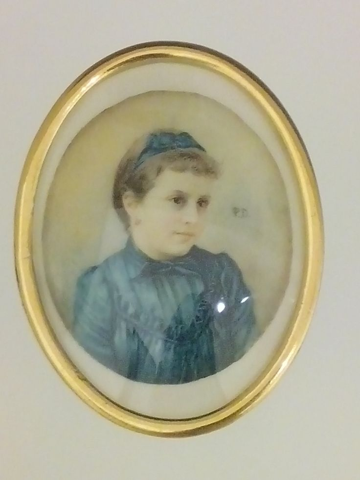pio dominguez del catillo  bogota 1780-1861 retrato de niña siglo XIX  acuarela sobre marfil