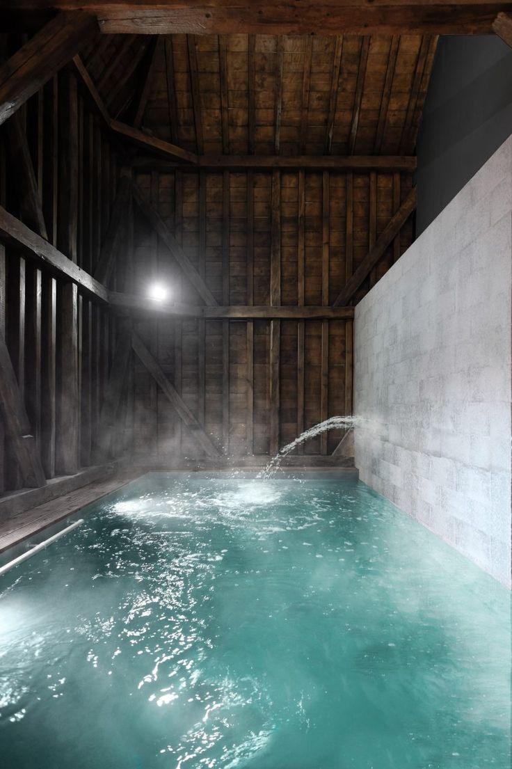 Indoor pool - The Barn in France by Antonin Ziegler