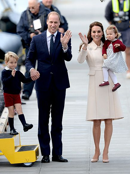 Prince William, Kate Middleton, George and Charlotte Canada Departure