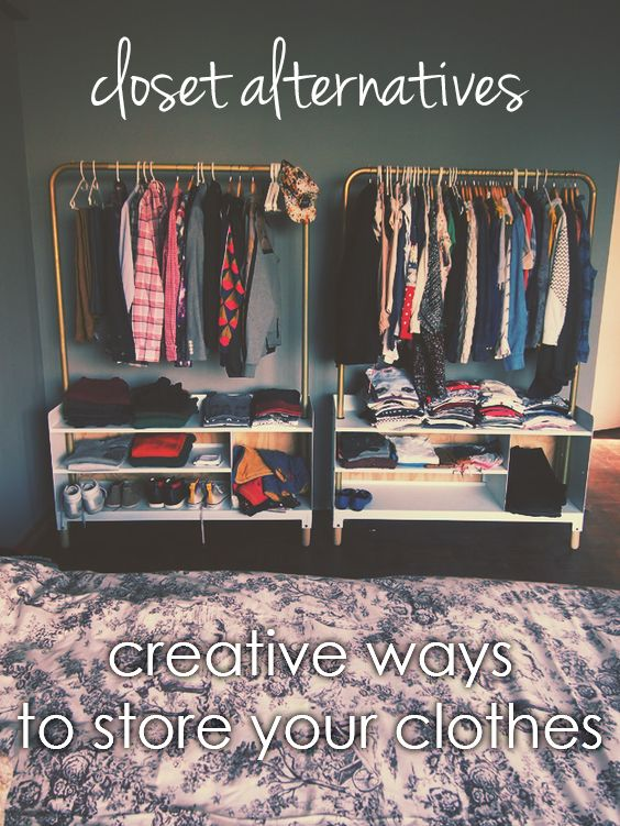 No closet? This post offers alternative ways to store and display your clothes!