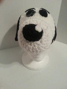 Charlie Brown's Snoopy the Dog Character Hat Crochet Pattern (6)