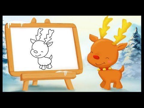 Comment dessiner un renne de Noël ?