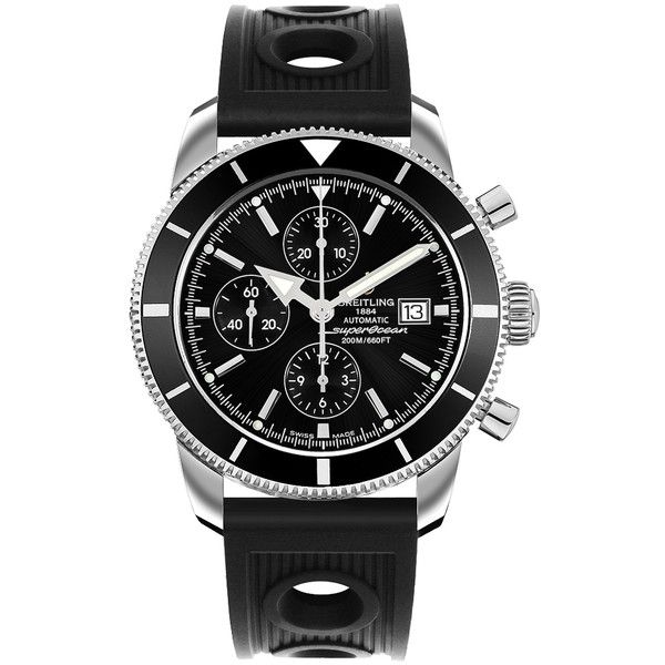 308 / A1332024/B908 Breitling Superocean Heritage Chronographe 46 Mens... (2,370 JOD) ❤ liked on Polyvore featuring men's fashion, men's jewelry, men's watches, mens chronograph watch, mens chronograph watches, breitling mens watches and mens watches jewelry