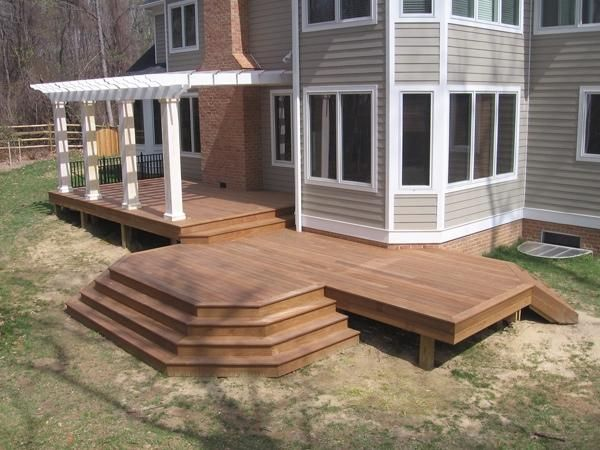 17 best images about decks on pinterest wood decks for Small wood porch designs