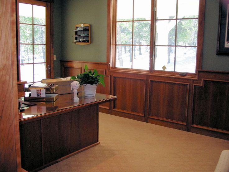 Dining Room Wainscoting Dark Espresso Stain