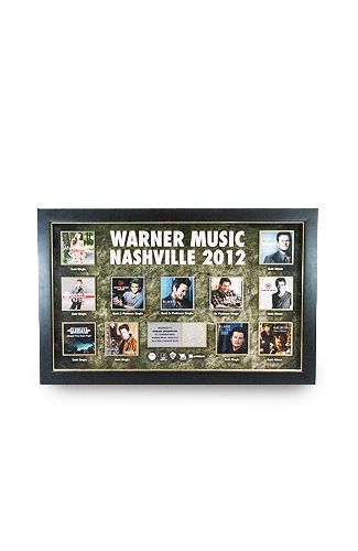 Warner Music Nashville 2012 RIAA Sales Plaque now on Online Goodwill! Auction ends Sunday, Jan. 14.