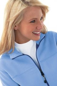 Promotional Products Ideas That Work: Ladies' fleece bonded to brushed mesh full-zip jacket. Get yours at www.luscangroup.com