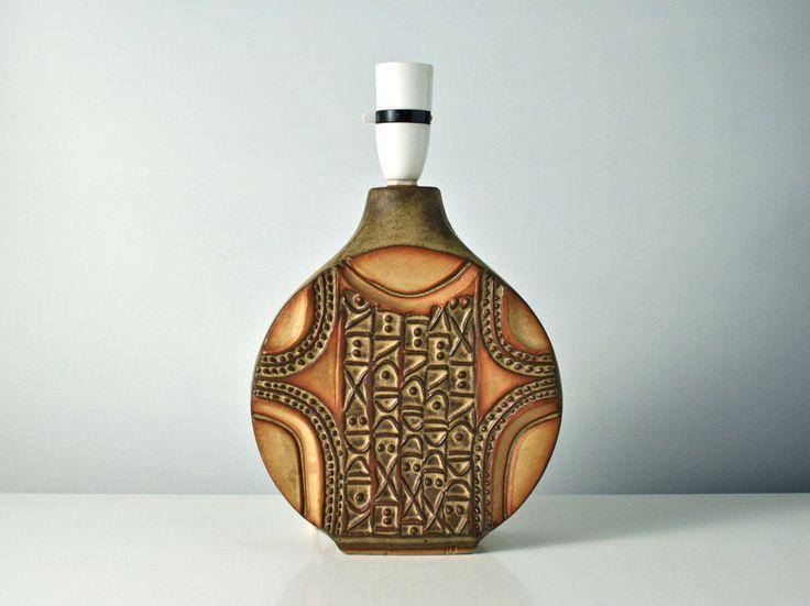 Louis Hudson lamp base. Vintage studio pottery wheel vase shape. Cornwall.