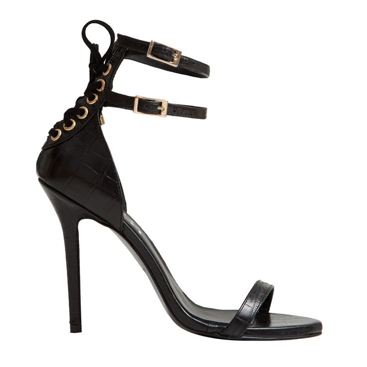 Sandalia de tacón María en coco negro, WOW! Imagina lo espectacular que lucirá ese vestido de verano con este modelo de MAS34! Es fantástico!  http://www.mas34shop.com