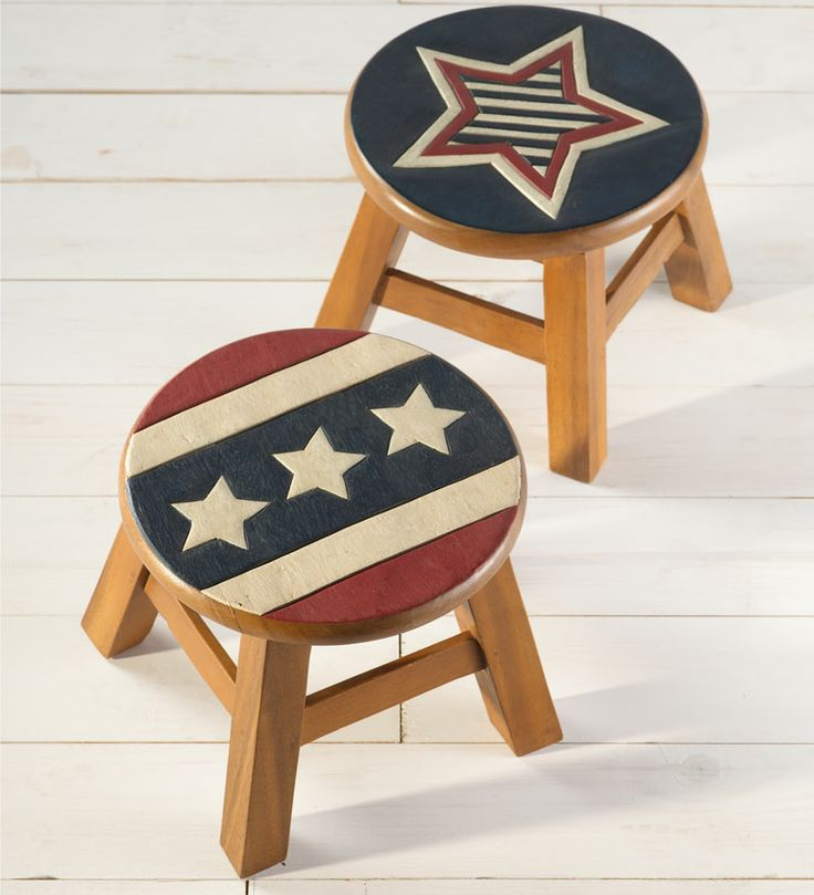 137 best folk painted pop tramp art furniture images for Americana crafts to make
