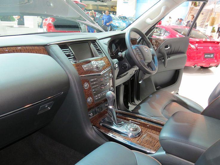 Sixth generation (Y62; 2010–present) -  2012 Nissan Patrol (Y62) Ti-L wagon (2012-10-26) 01.jpg Interior