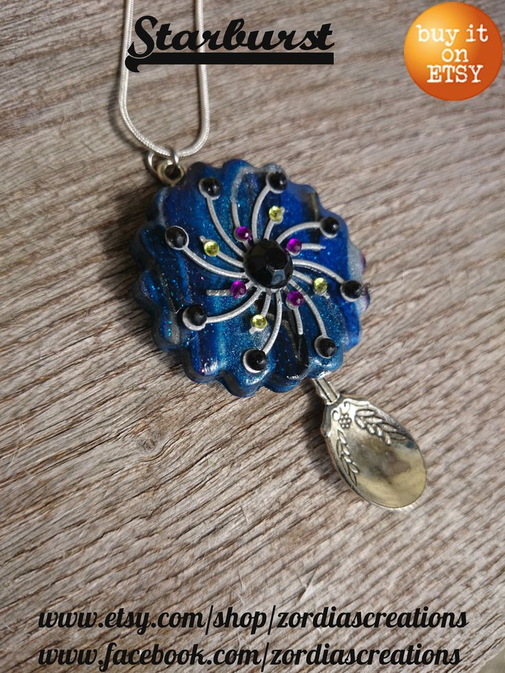 Beautiful OOAK starburst inspired pendant.