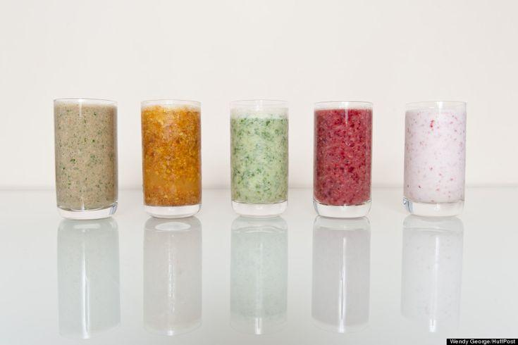 5 recettes de smoothies sains #alimentation #régime #nutrition #smoothies