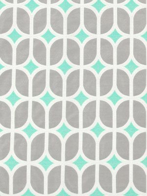 Turquoise Fabric - Gray and Turquoise Contemporary Upholstery Fabric by the Yard