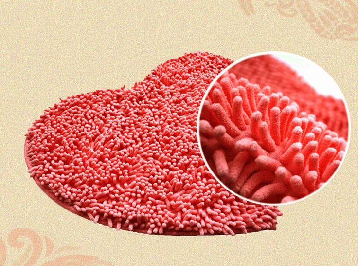 Heart Red Bathroom Rug