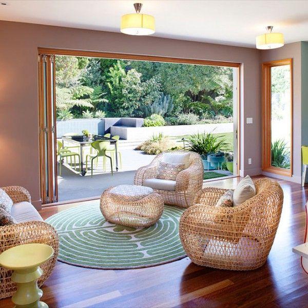 Indoor Outdoor Korbmöbel-rustikale möbel