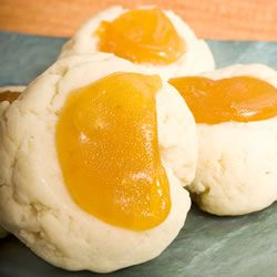 Apricot Cream Cheese Thumbprints - roll in 10x, use melon baller for ...