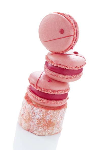 Raspberry macaroons by Christophe Michalak