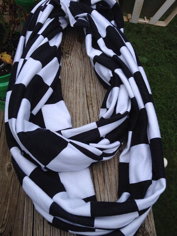 Checkered Flag Infinity Scarf by FunlalalaBoutique on Etsy, $12.00