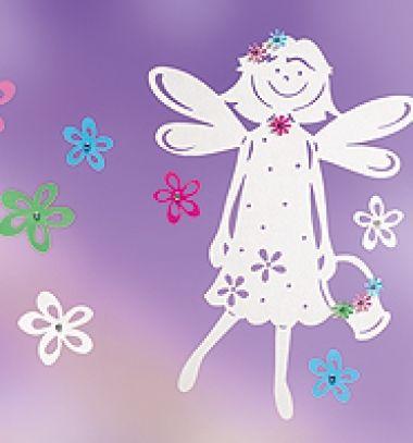 Tavasztündér virágokkal - tavaszi ablakdekoráció papírból (sablon) / Mindy -  kreatív ötletek és dekorációk minden napra