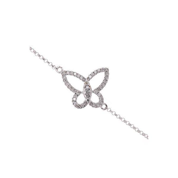 BRACELET JOLI PAPILLON EN OR BLANC ET DIAMANT #Diamanta #Joaillerie #Luxe