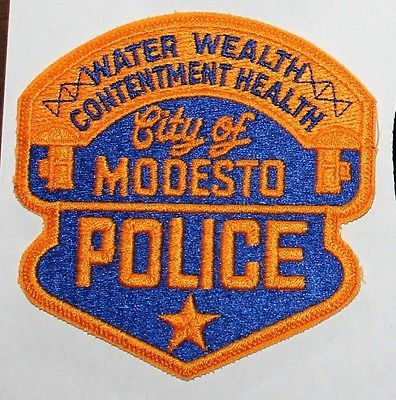 MODESTO POLICE Stanislaus County California PD CA patch