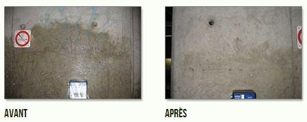 SOLUTION STEP 2 Un produit anti-graffiti qui nettoie en profondeur toutes traces de marqueurs et de peinture sur les surfaces poreuses (brique, béton, pierre, etc.) grâce à sa combinaison avec la Solution M .