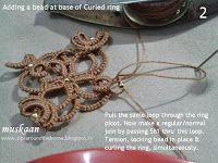 Adding a bead to Curled RIng.... muskaan's T*I*P*S: Curled Ring final options and a free pattern