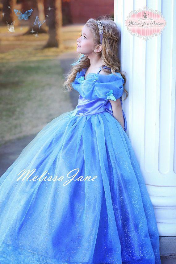 Inspired Cinderella Blue Movie Princess por MelissaJaneBoutique