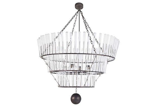 Arrington 3-Light Chandelier, Silver on OneKingsLane.com