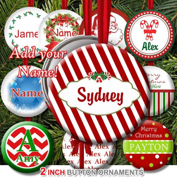 Bulk Christmas Ornaments.25 Or More 2 Inch Christmas Ornaments Personalized