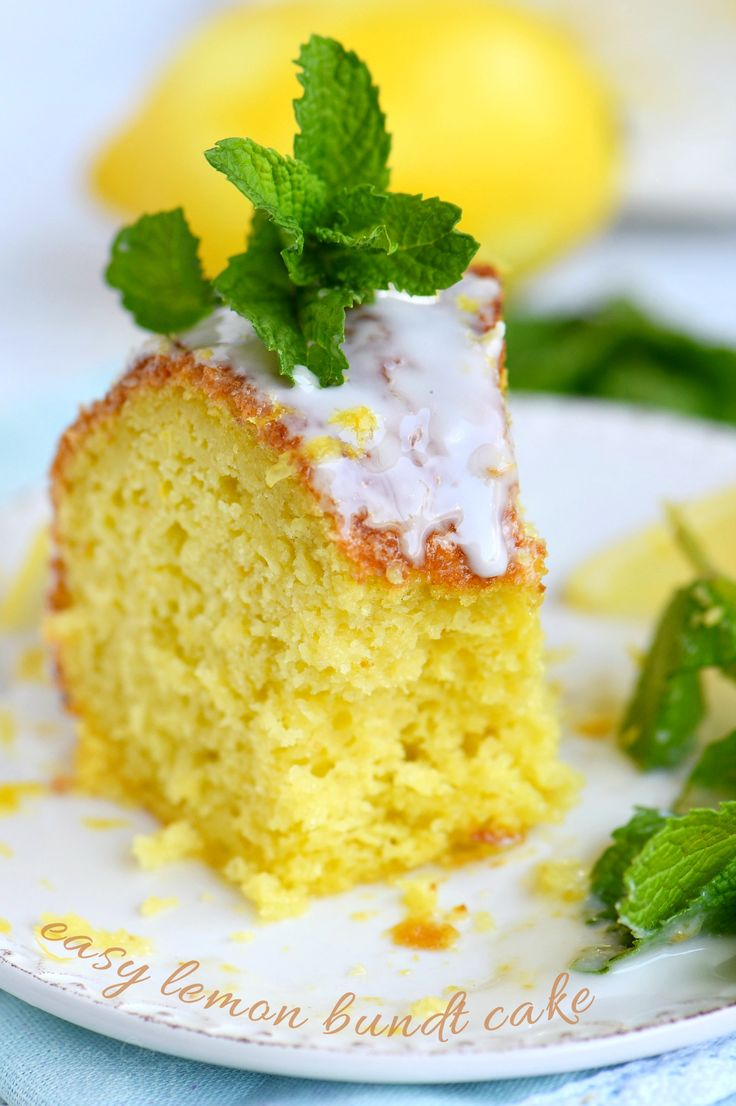 easy lemon dessert recipe that is going to WOW your friends and family? This Easy Lemon Bundt Cake is the answer! A breeze to make and loaded with bright lemon flavor, this easy cake recipe is also figure-friendly which makes it perfect for summer! // Mom On Timeout