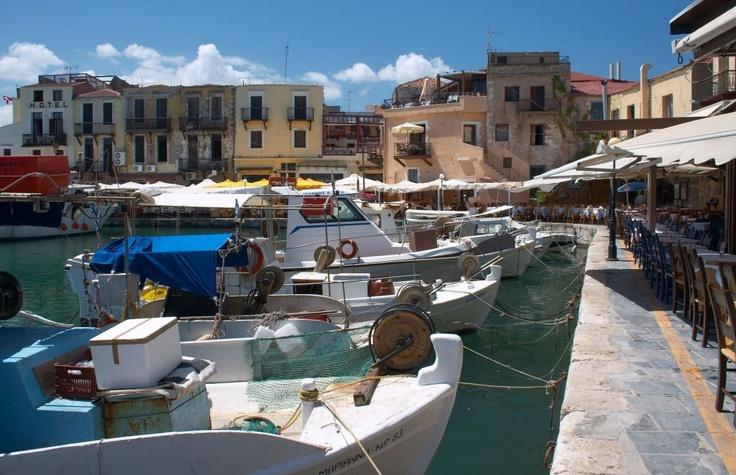 The port in Rethymno, Crete