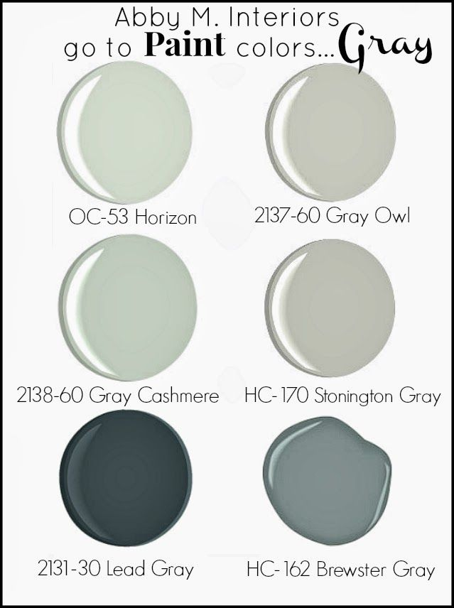 "My ""Go To"" Paint Colors...Gray"