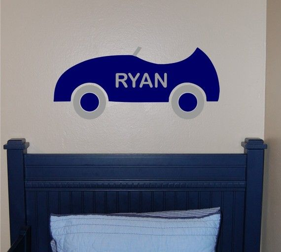 Race Car Kids Personalized Wall Decal Part 32