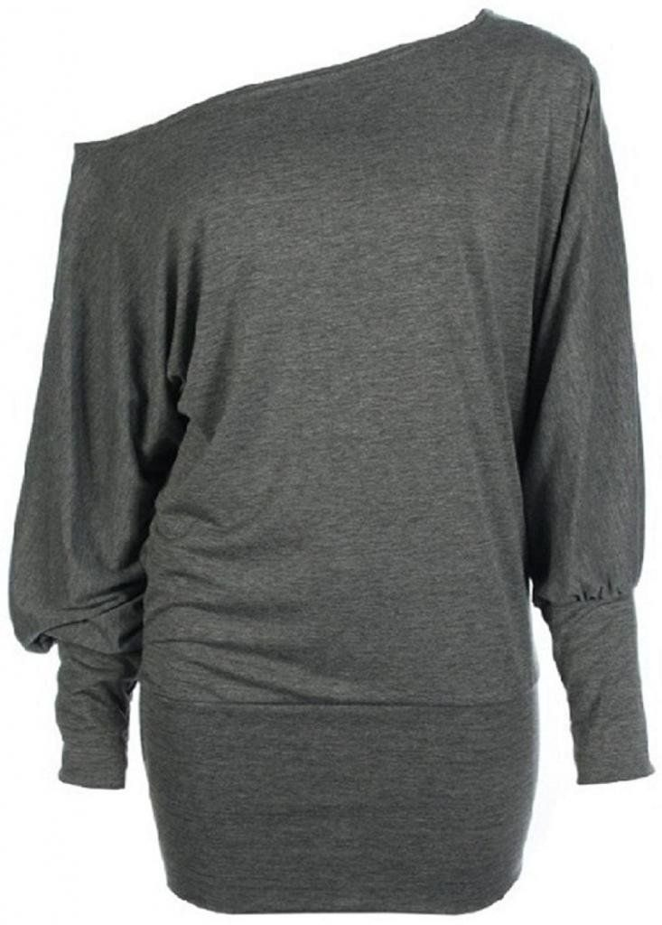 Women's Plus Size Batwing Top