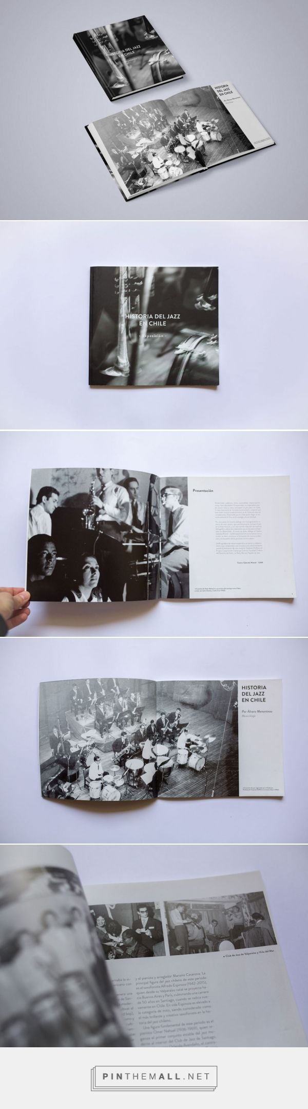 Catálogo de Jazz | Design by otrosperez.com  Catalog design for the Jazz exhibition at the Gabriela Mistral Center, which was born from the Jazz Festival organized by the Corporacion Construye Cultura. - created via https://pinthemall.net