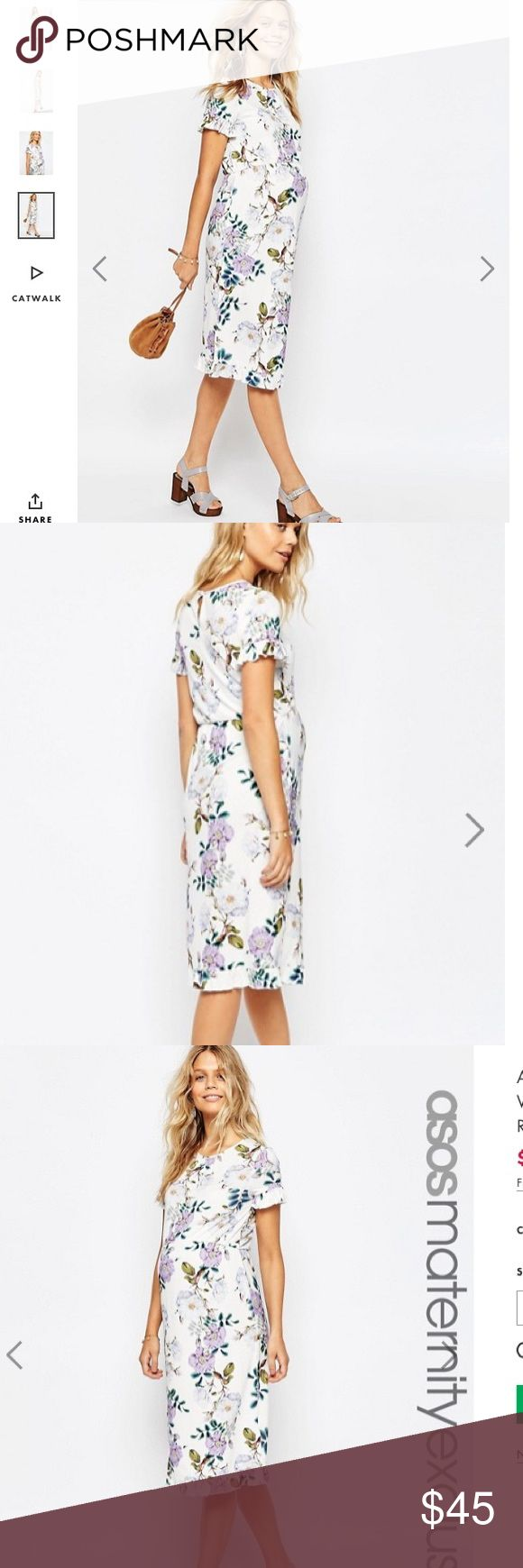 Top 25 best asos maternity sale ideas on pinterest pregnancy nwt asos maternity flower dress 8 boutique ombrellifo Choice Image