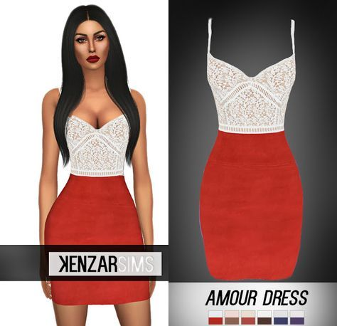 Sims 4 CC's - The Best: Amour Dress by KenzarSims
