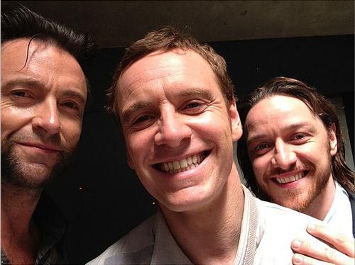 X-Man - Days of future past - Hugh Jackman (Wolverine), Micheal Fassbender (Magneto) & James McAvoy (Professor X)