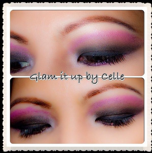 Purple smokey eyeshadow