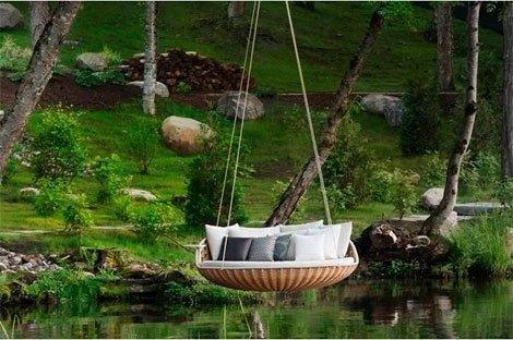 Hanging chair: sillas que flotan en el aire | Decorar tu casa es facilisimo.com
