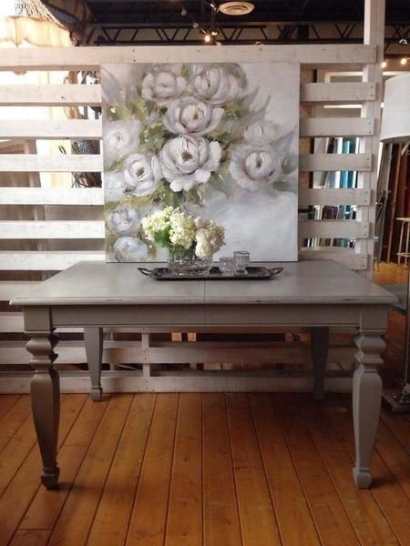 French Linen Farmhouse Dining Table   The Passionate Home - Langley