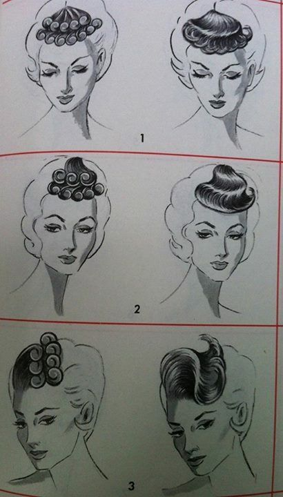 1816 Best Images About Vintage Hair Howtos On Pinterest