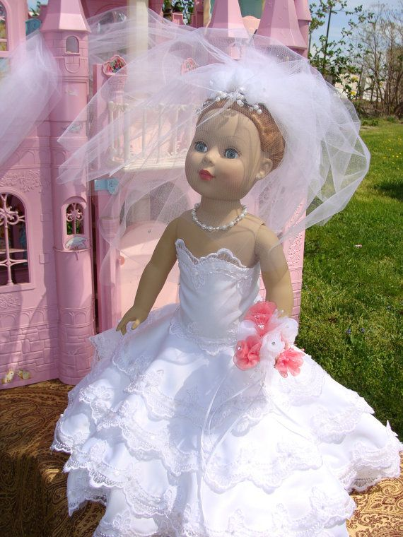 American Girl Wedding Gown American Girls Dolls And Etsy